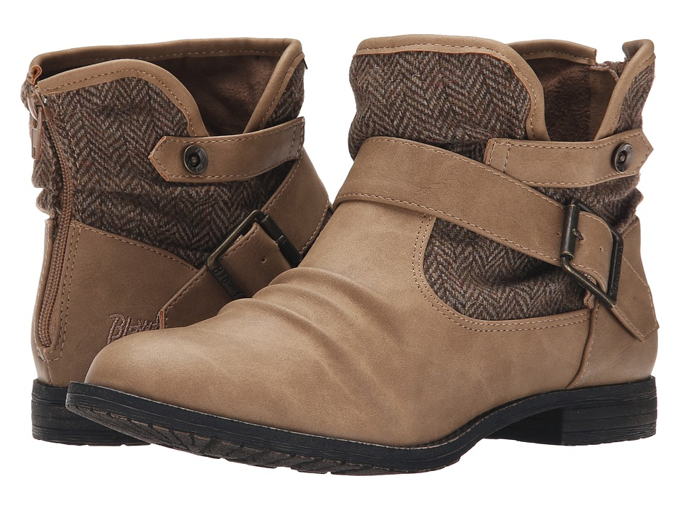 Blowfish - Trios (Sand Texas PU/Tan Bond Herringbone) Women's Pull-on Boots