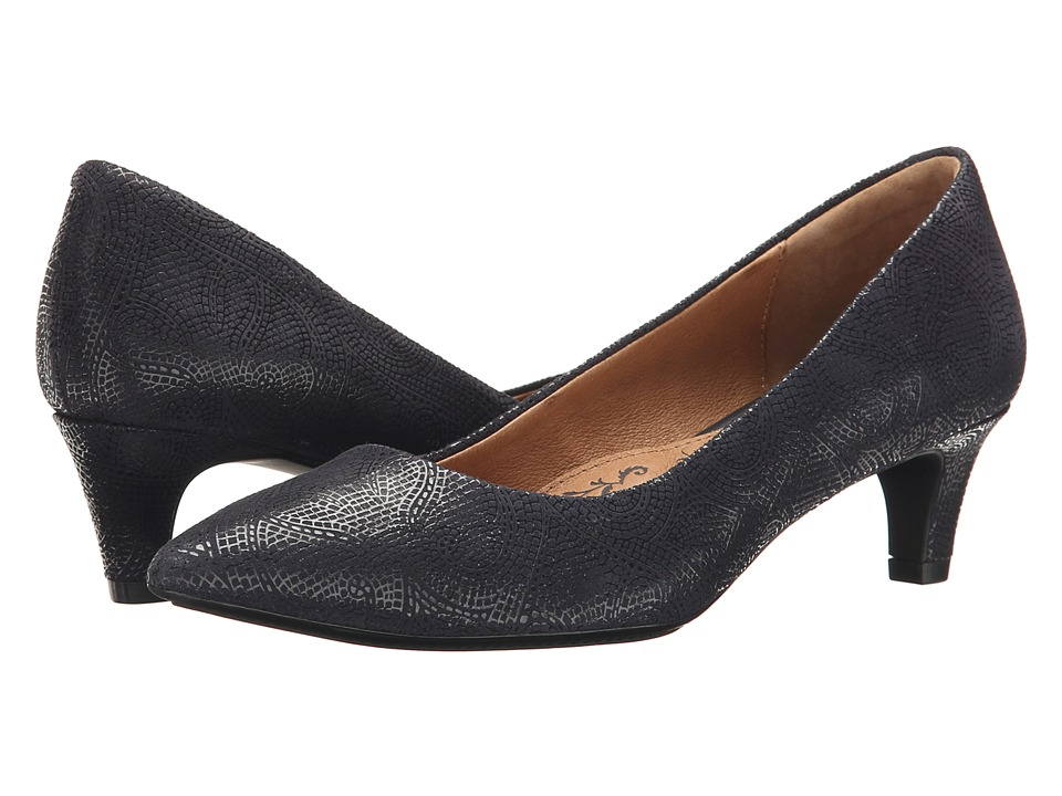 Sofft - Altessa (Navy Paisley Print Suede) Women's 1-2 inch heel Shoes