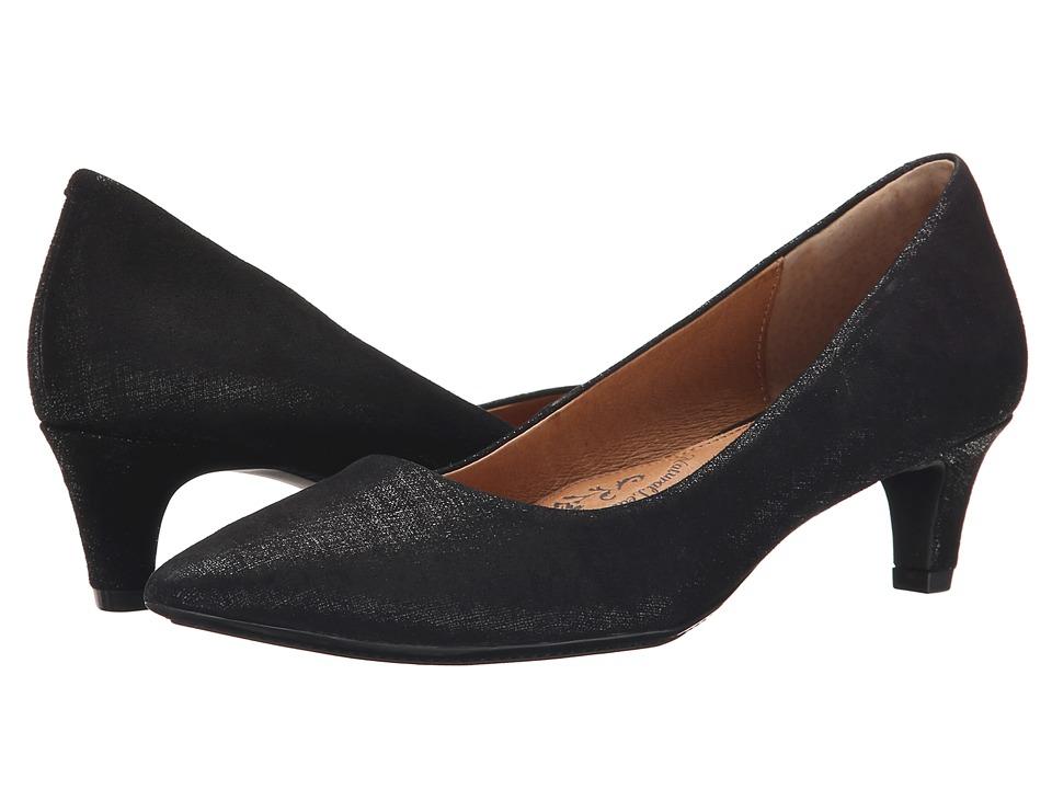 Sofft Altessa (Black Linen Foil Suede) Women
