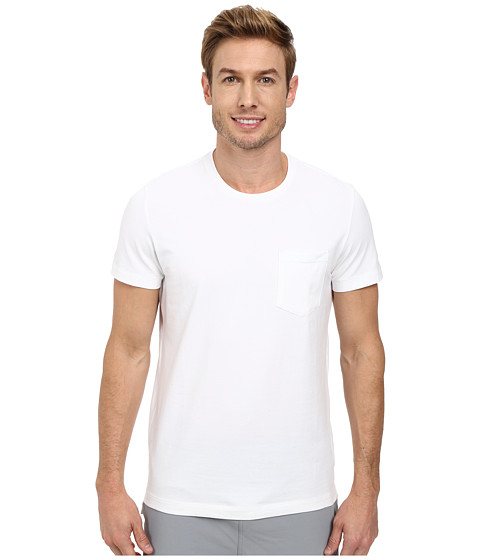 Kenneth Cole Sportswear - Short Sleeve Crew w/ Pocket (White) Men's Short Sleeve Pullover