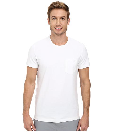 Kenneth Cole Sportswear - Short Sleeve Crew w/ Pocket (White) Men's Short Sleeve Pullover