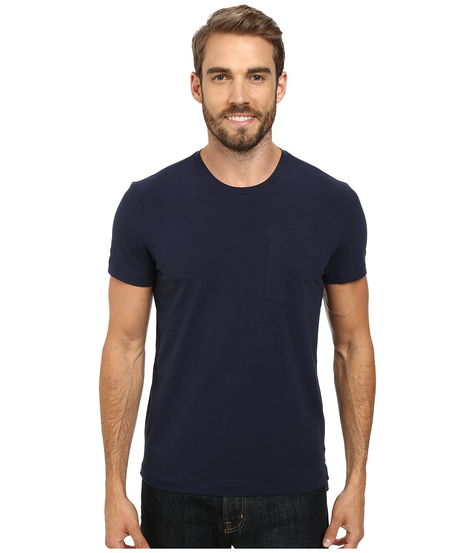 Kenneth Cole Sportswear - Short Sleeve Crew w/ Pocket (Indigo) Men's Short Sleeve Pullover