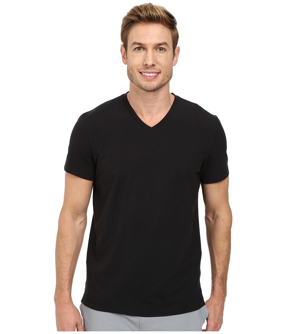 Kenneth Cole Sportswear Short Sleeve V-Neck (Black) Men