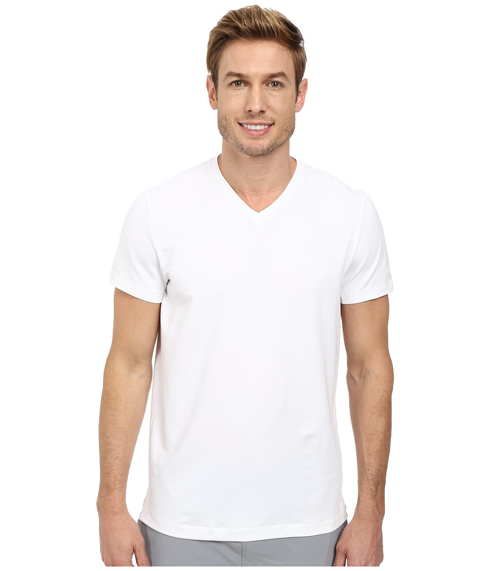 Kenneth Cole Sportswear Short Sleeve V-Neck (White) Men