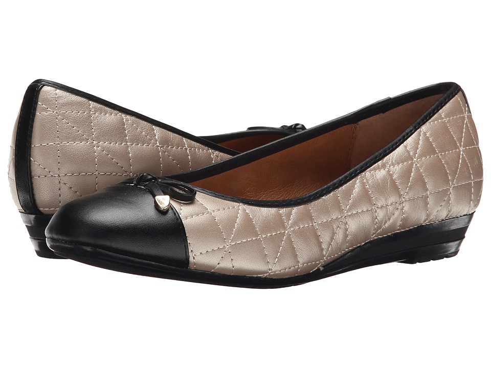 Sofft - Shonda (Champagne/Black Velvet Sheep Nappa) Women's Flat Shoes