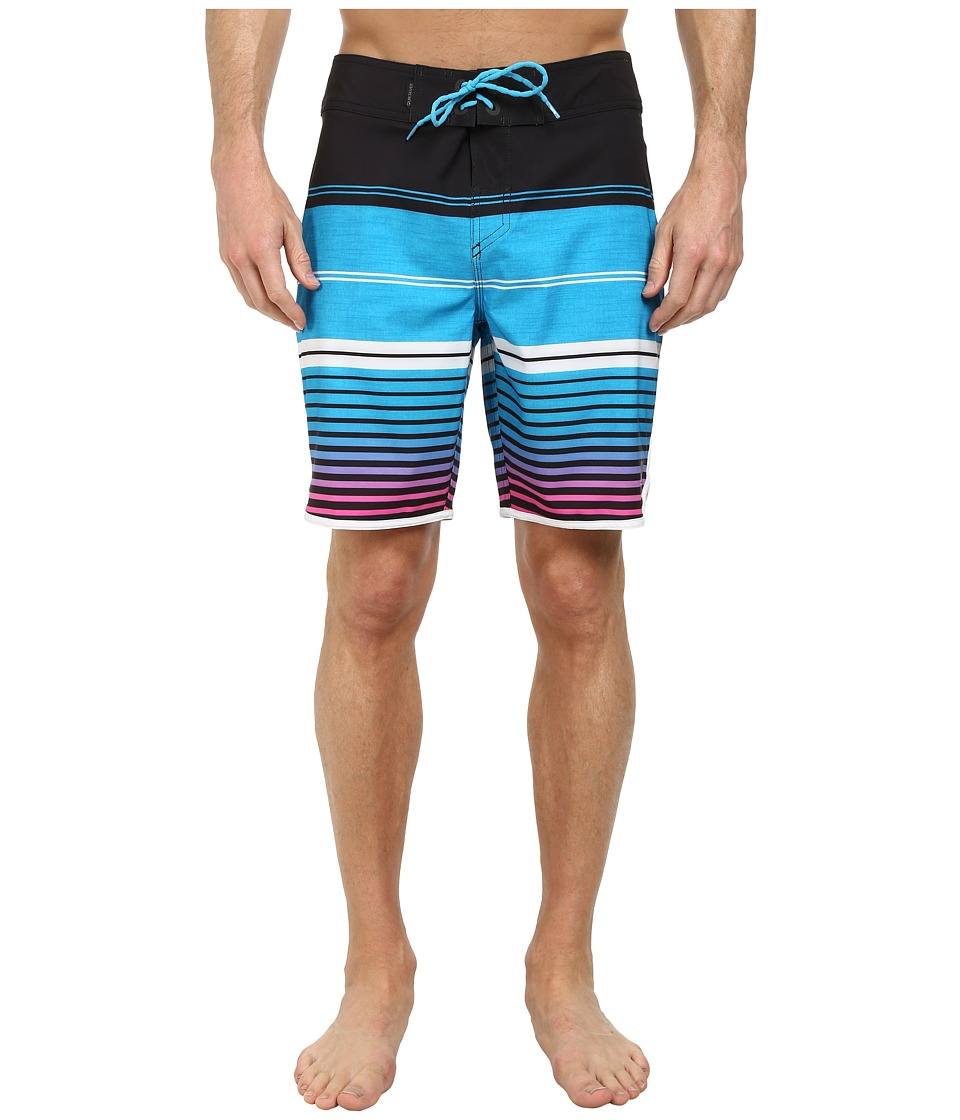 Quiksilver - AG47 Vertigo Stripe 19 Boardshorts (Black) Men