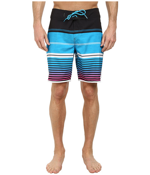 Quiksilver - AG47 Vertigo Stripe 19 Boardshorts (Black) Men's Swimwear