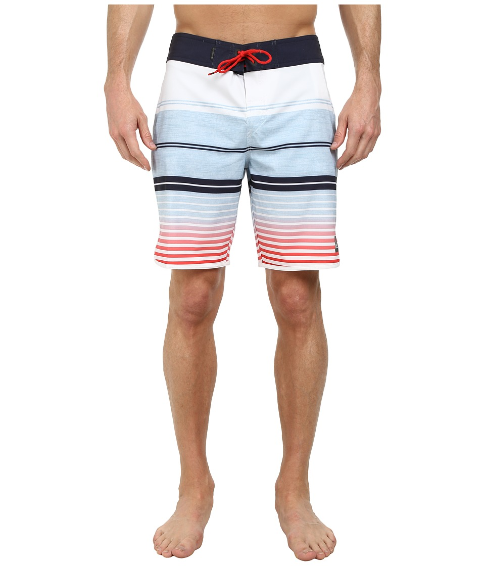 Quiksilver - AG47 Vertigo Stripe 19 Boardshorts (White) Men's Swimwear