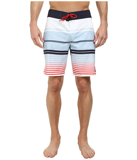 Quiksilver - AG47 Vertigo Stripe 19 Boardshorts (White) Men
