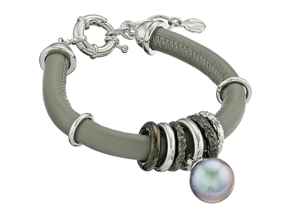 Majorica - Storm Pearl Drop Bracelet (Silver/Grey) Bracelet