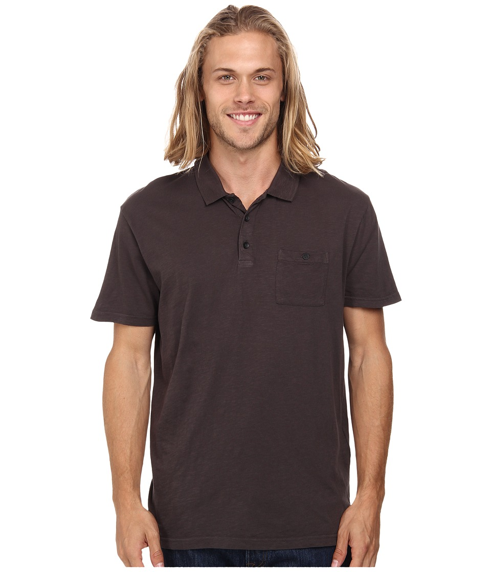 Quiksilver - Voices Polo Knit Top (Anthracite) Men's Short Sleeve Knit