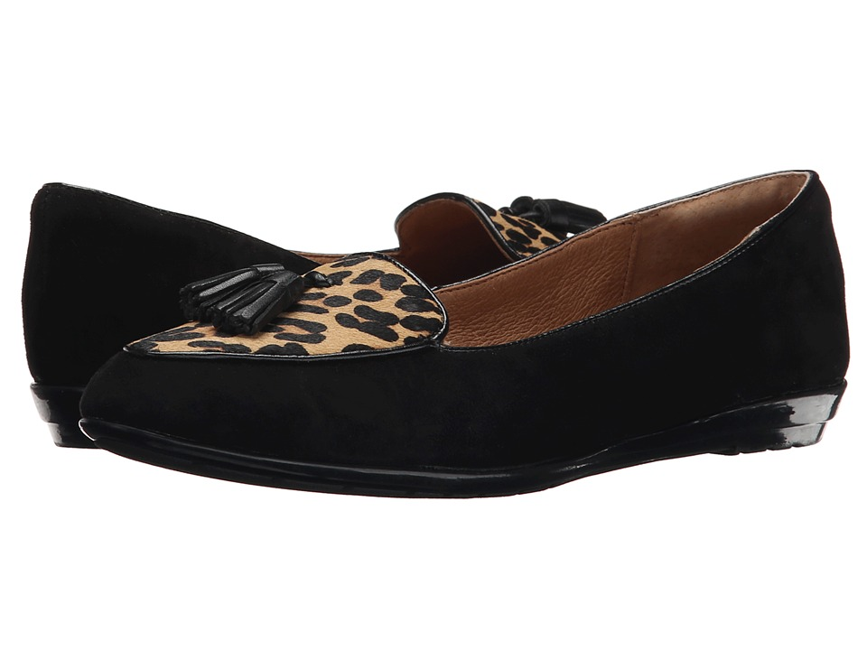 Sofft Bryce (Black/Natural Leopard King Suede/Hair) Women