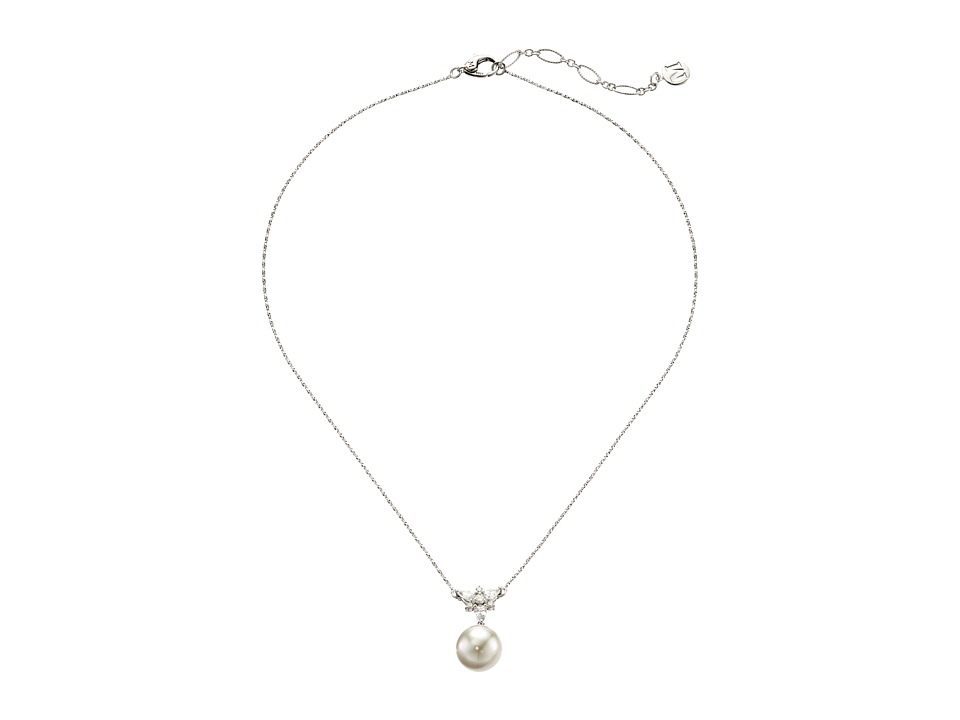 Majorica - Tying the Knot Pendant (Silver/White) Necklace