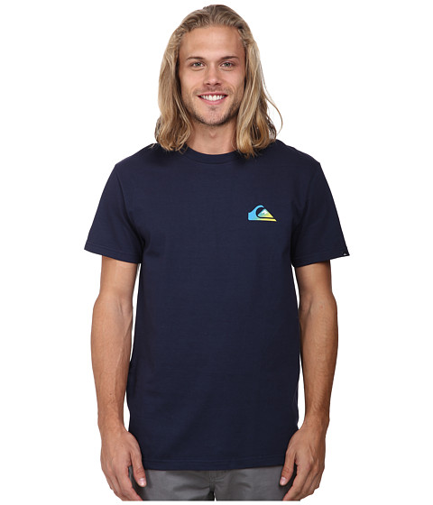 Quiksilver - Grady Screen Tee (Navy Blazer) Men