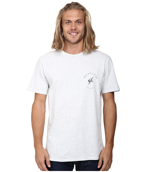 Quiksilver - Flash Mod Screen Tee (Snow White Heather) Men