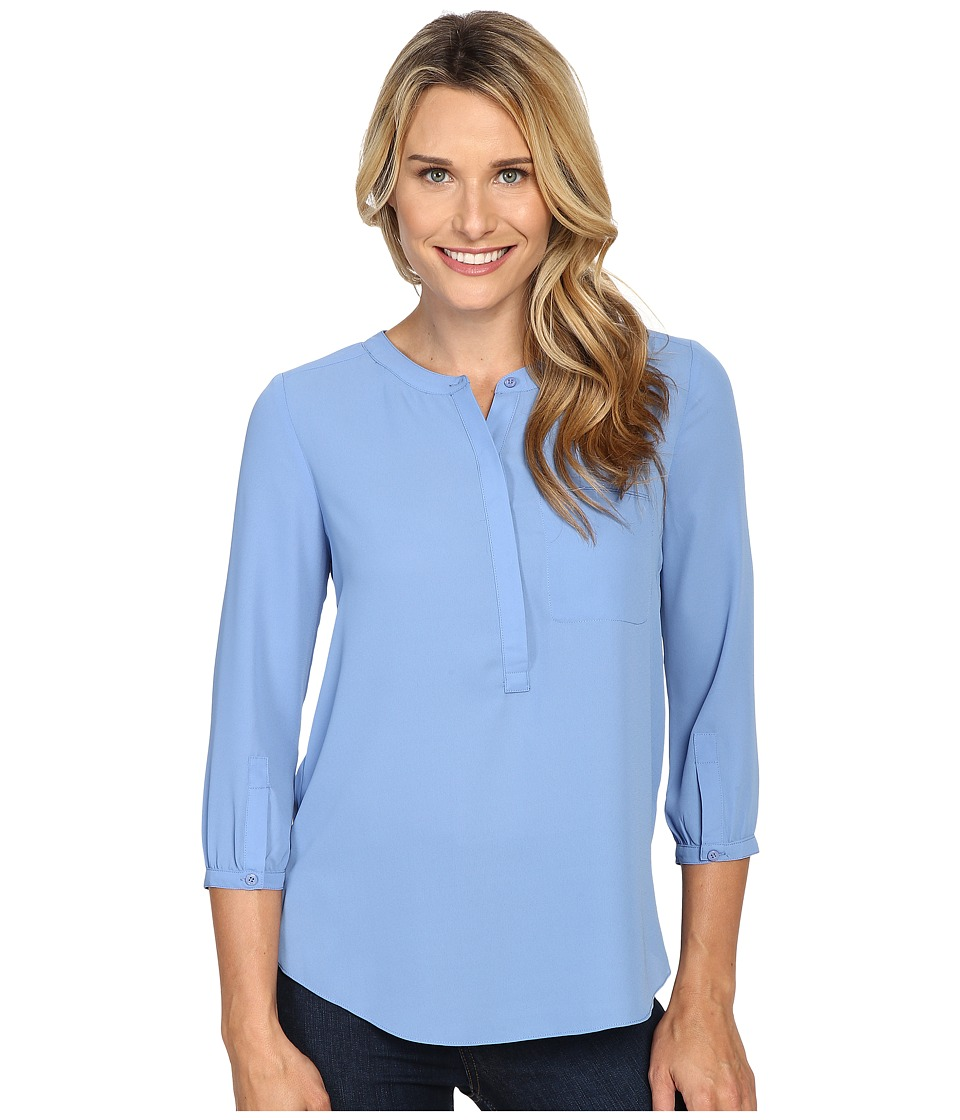 NYDJ - 3/4 Sleeve Pleat Back (Sky Light) Women's Blouse