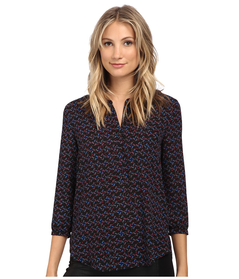 NYDJ - 3/4 Sleeve Pleat Back (Kumquat Print) Women's Blouse