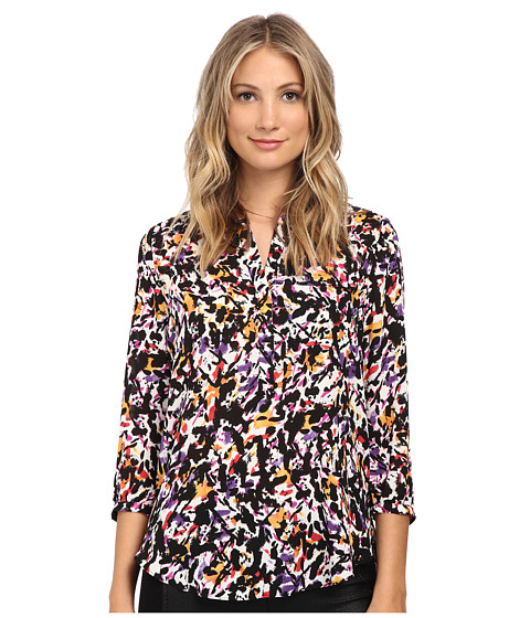 NYDJ - 3/4 Sleeve Pleat Back (Paint Splash) Women's Blouse