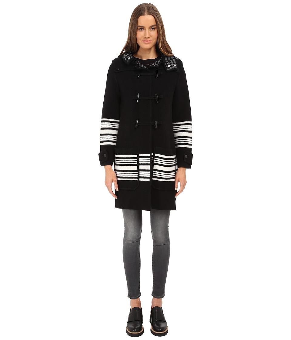 M Missoni - Blanket Stripe Cape (Black) Women