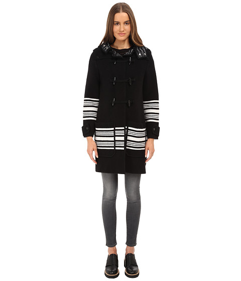 M Missoni - Blanket Stripe Cape (Black) Women's Coat