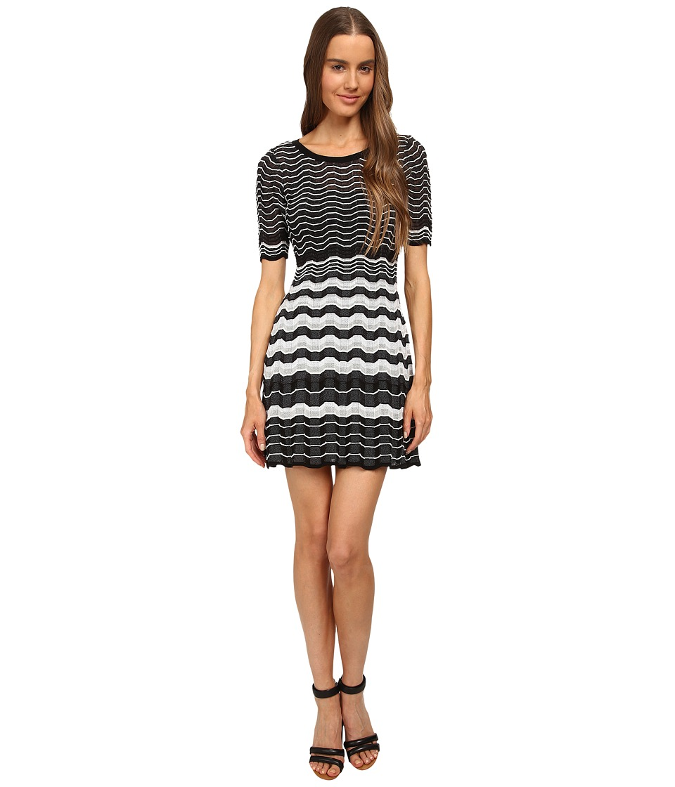 M Missoni - Placed Greek Knit Dress (Black) Women's Dress
