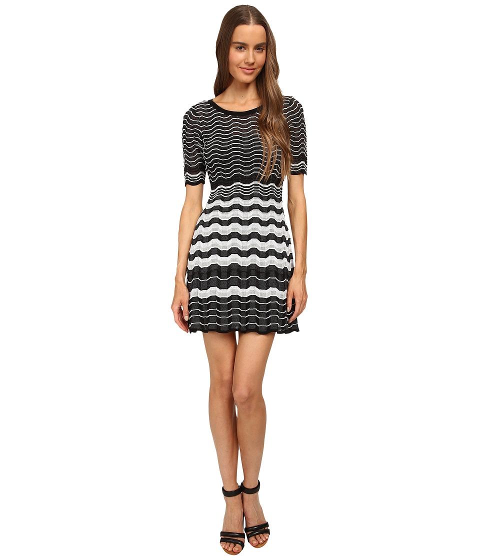 M Missoni - Placed Greek Knit Dress (Black) Women's Dress