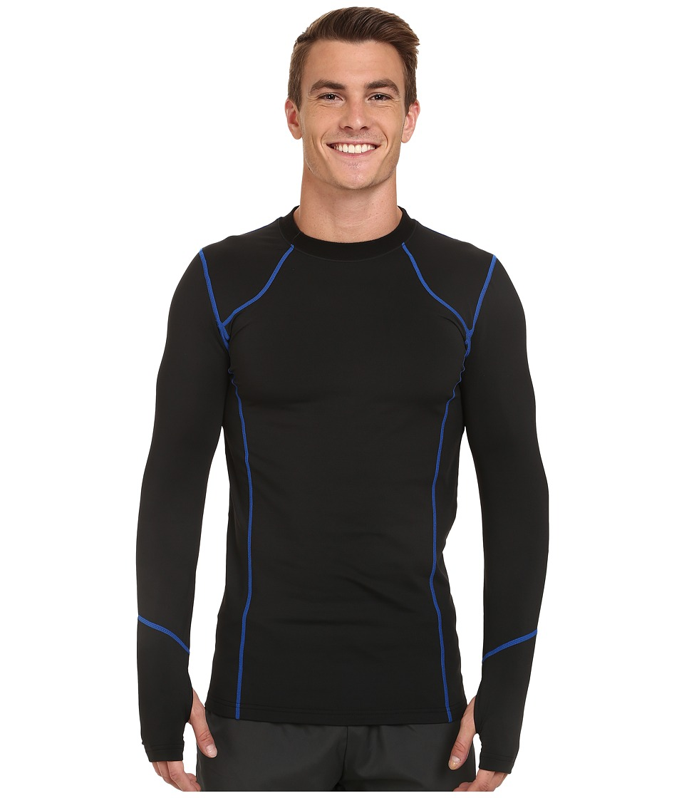 Terramar - TXO 2.0 Long Sleeve Crew (Carbon/Imperial Stitching) Men's Long Sleeve Pullover