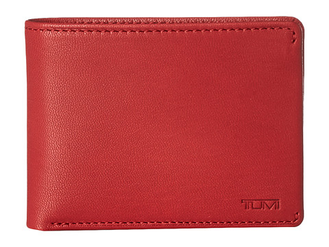 Tumi - Chambers Double Billfold with ID (Crimson) Bill-fold Wallet