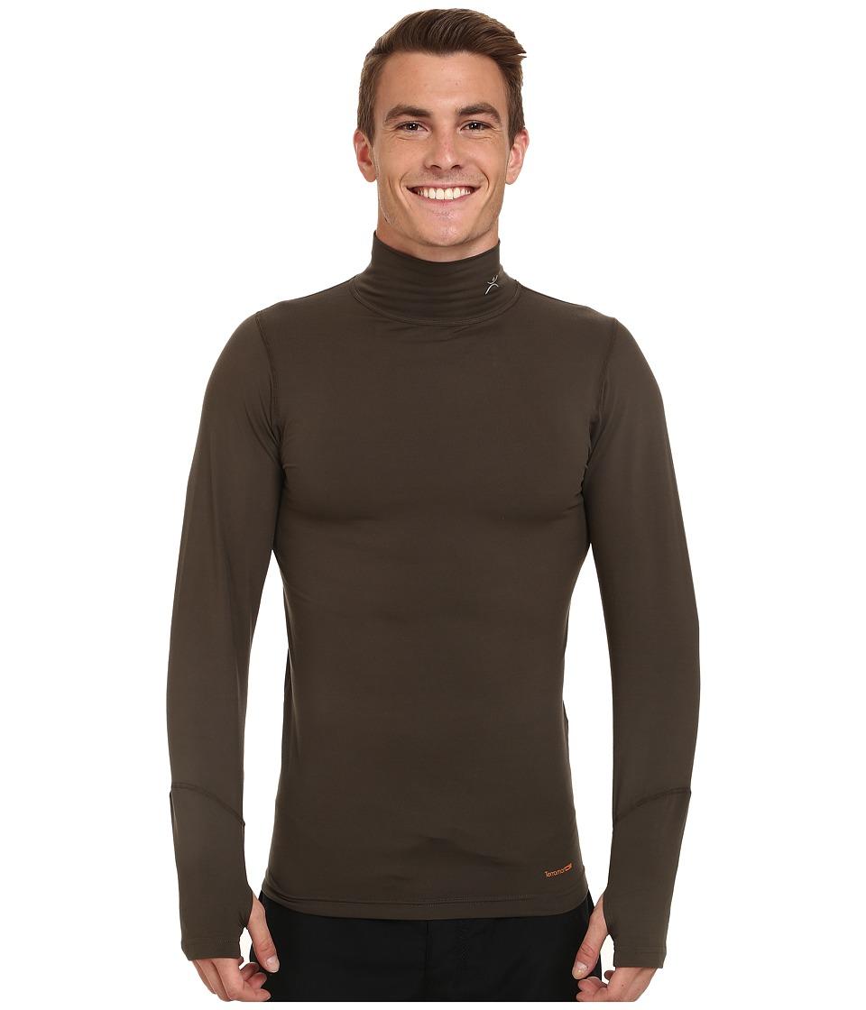 Terramar - Thermolator Long Sleeve Mock Neck w/ Mesh (Dark Loden) Men's Long Sleeve Pullover