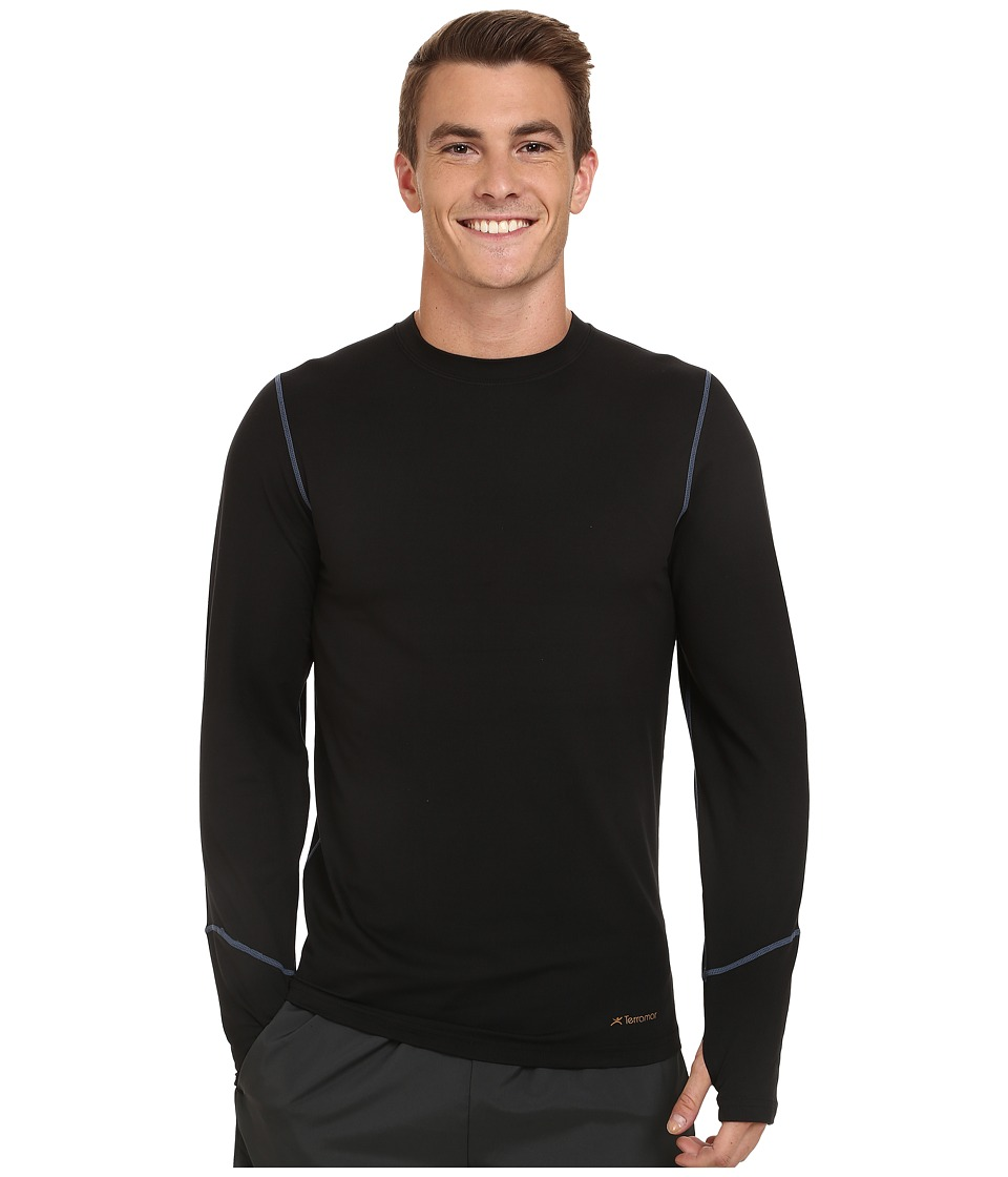 Terramar - Thermolator Long Sleeve Crew (Black) Men's Long Sleeve Pullover