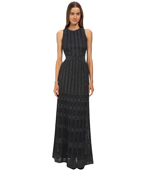 M Missoni - Solid Lurex Long Gown (Navy) Women's Dress