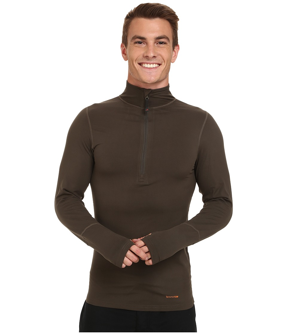 Terramar - Thermolator Half Zip w/ Mesh (Dark Loden) Men's Long Sleeve Pullover