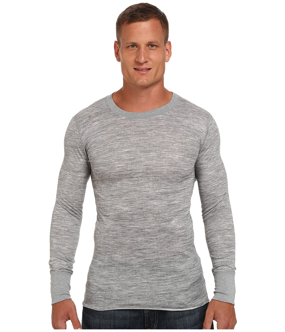 Terramar - Tall Merino Wool Long Sleeve Crew (Grey Heather) Men's Long Sleeve Pullover