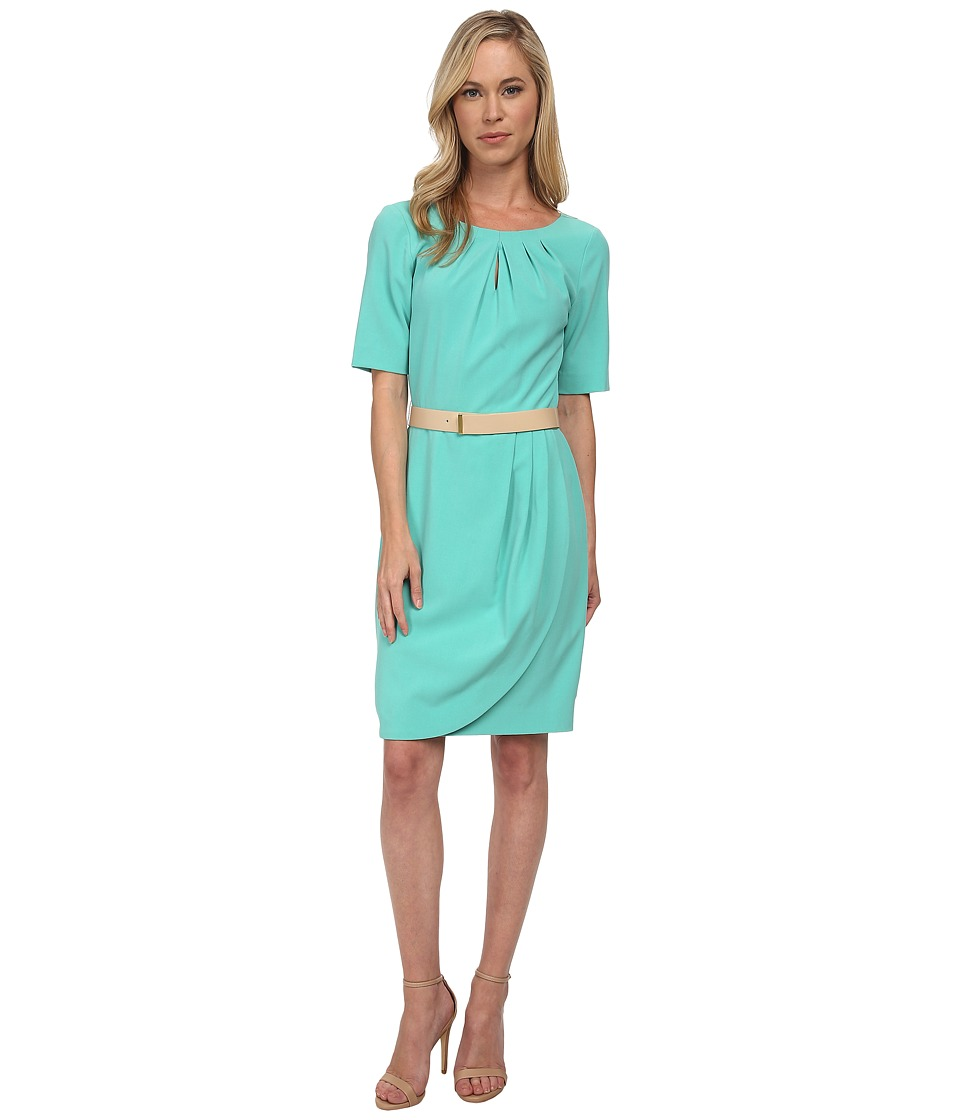 Tahari by ASL Petite - Petite Jeff Dress (Seaglass) Women's Dress