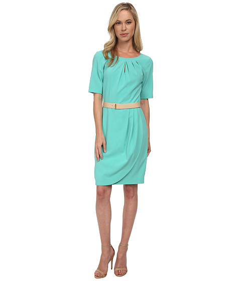 Tahari by ASL Petite - Petite Jeff Dress (Seaglass) Women