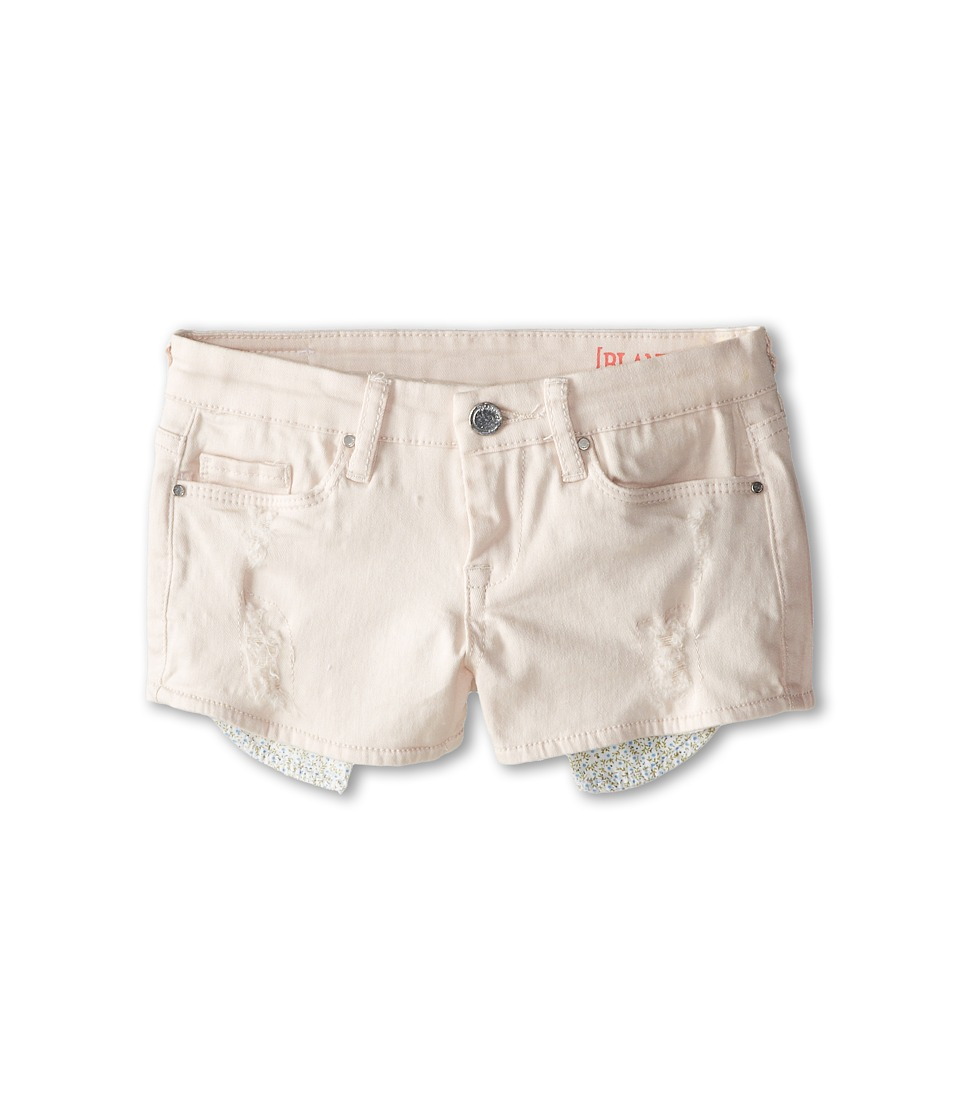 Blank NYC Kids - Denim Shorts w/ Rips and Floral Pocket Bag (Big Kids) (Ditz) Girl's Shorts