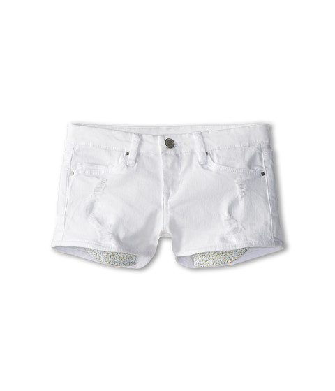 Blank NYC Kids - Shorts w/ Rips and Floral Pocket Bag in As if (Big Kids) (As If) Girl