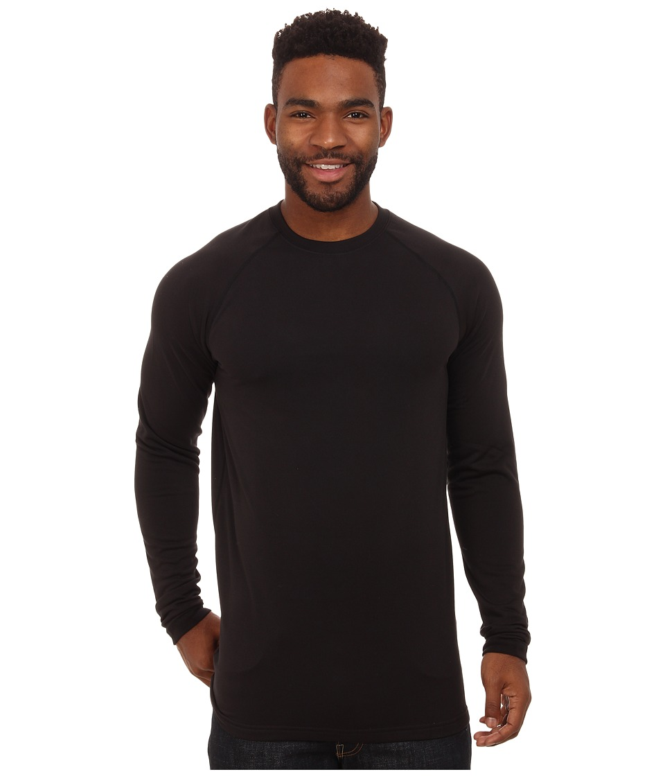 Terramar Tall Military Fleece Crew (Black) Men