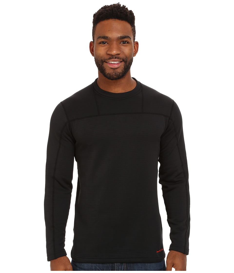Terramar - Ecolator Long Sleeve Crew (Black) Men's Long Sleeve Pullover