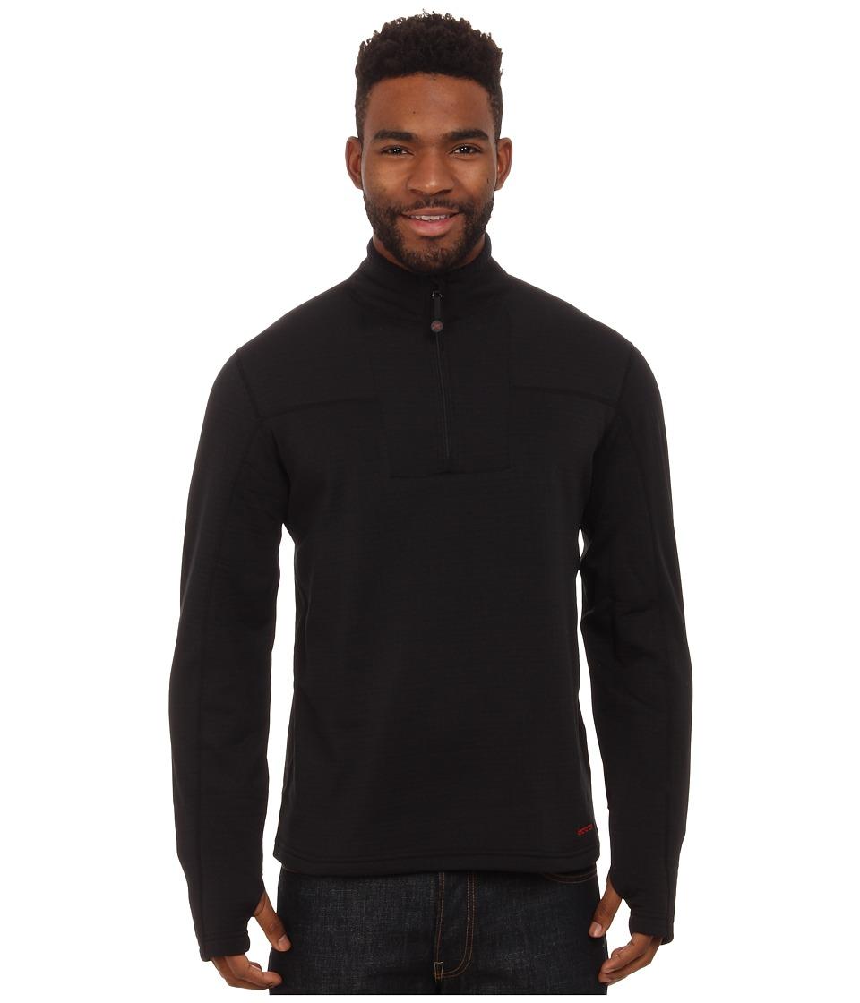 Terramar - Ecolator Long Sleeve 1/4 Zip (Black) Men's Long Sleeve Pullover
