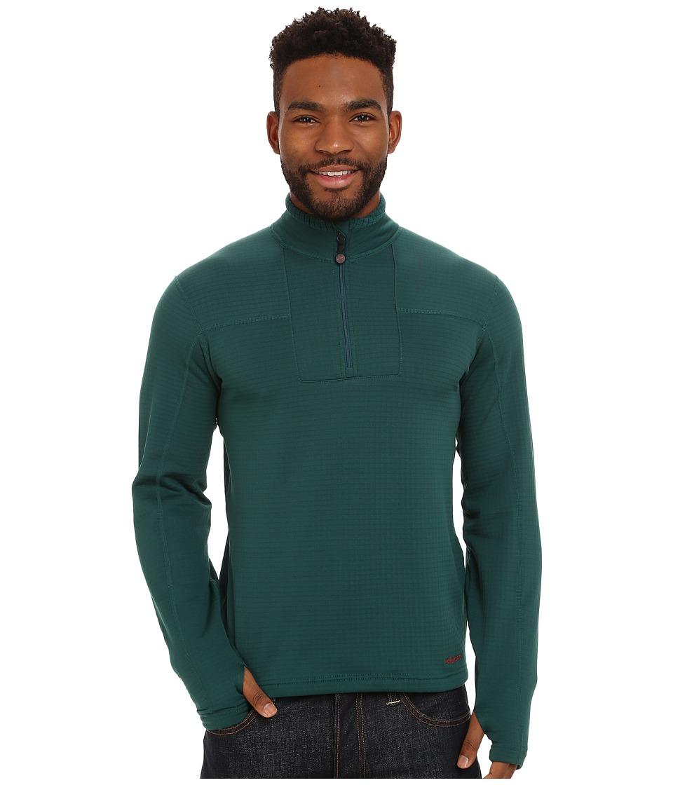 Terramar - Ecolator Long Sleeve 1/4 Zip (Evergreen) Men's Long Sleeve Pullover