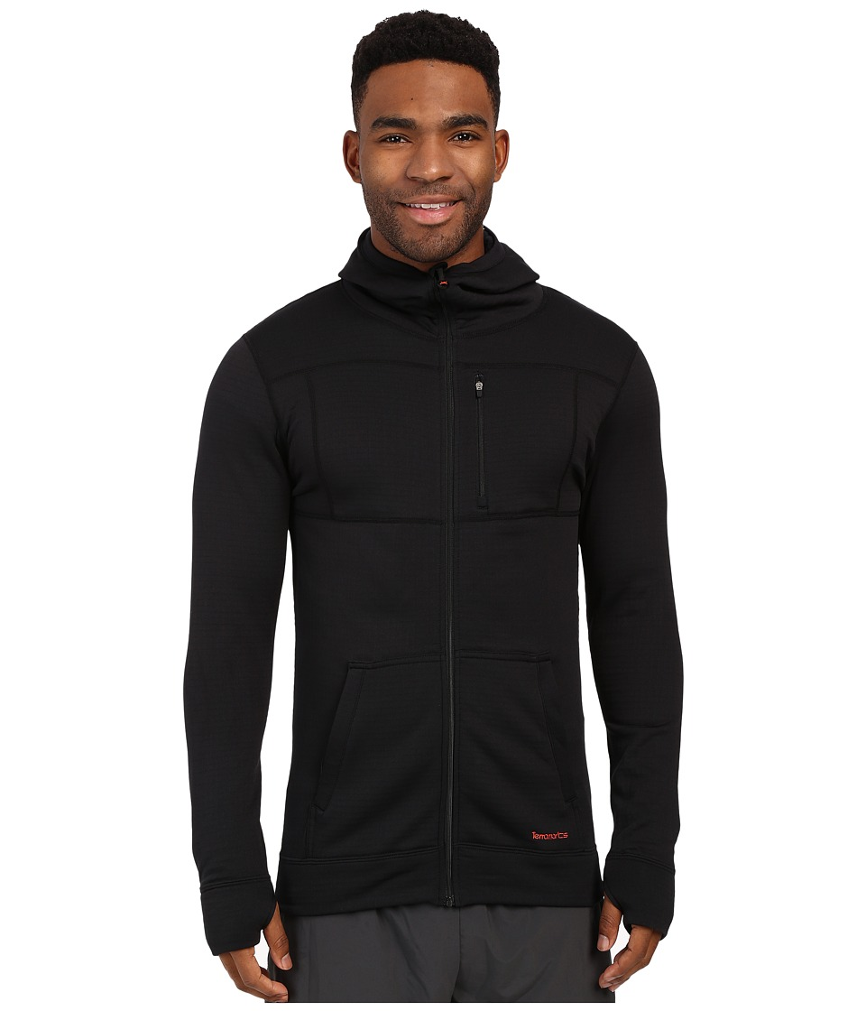 Terramar - Ecolator Full Zip Hoodie (Black) Men's Sweatshirt