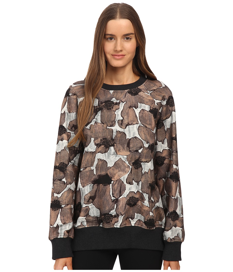Vera Wang - Long Sleeve Floral Sweatshirt (Light Gray) Women's Sweatshirt