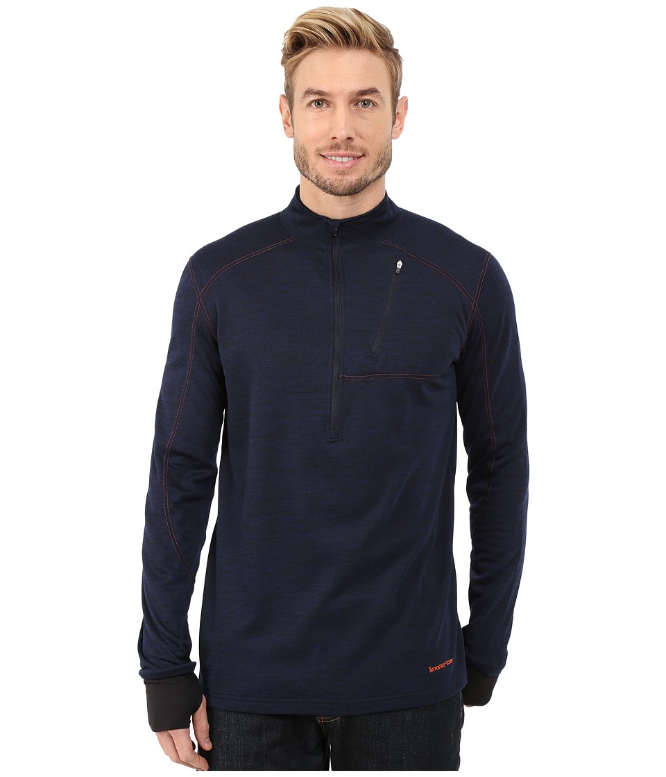 Terramar - Thermawool Climasense 1/4 Zip (Imperial Blue Heather) Men's Long Sleeve Pullover
