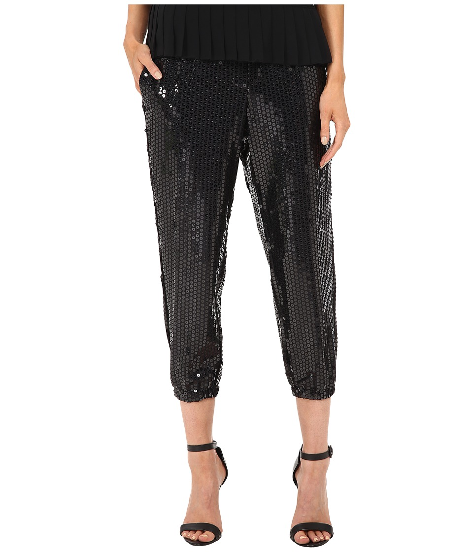 Vera Wang - Pull On Gathered Pants (Black) Women's Casual Pants
