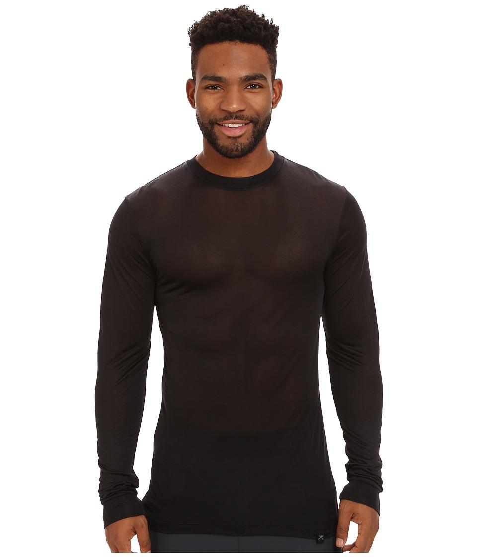 Terramar - Tall Thermasilk Long Sleeve Crew (Black) Men's Long Sleeve Pullover