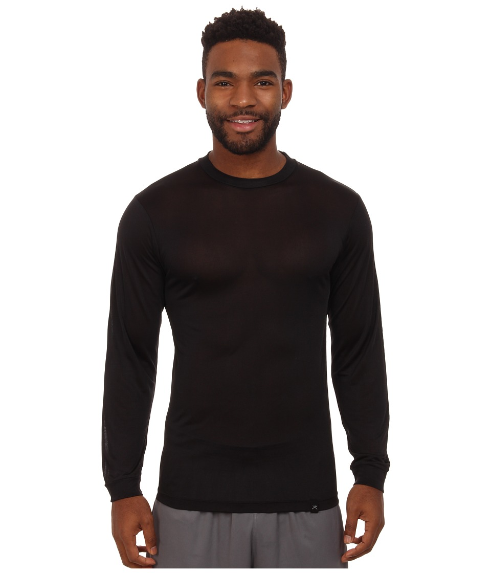 Terramar - Thermasilk Long Sleeve Crew (Black) Men's Long Sleeve Pullover