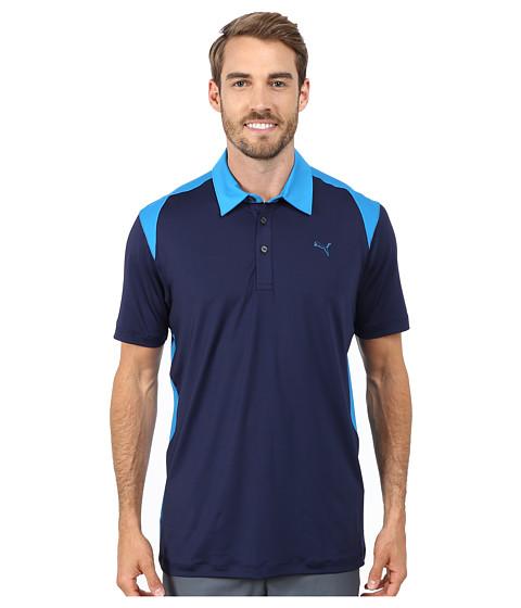 PUMA Golf - Blocked Polo (Peacoat/Cloisonne) Men's Short Sleeve Knit