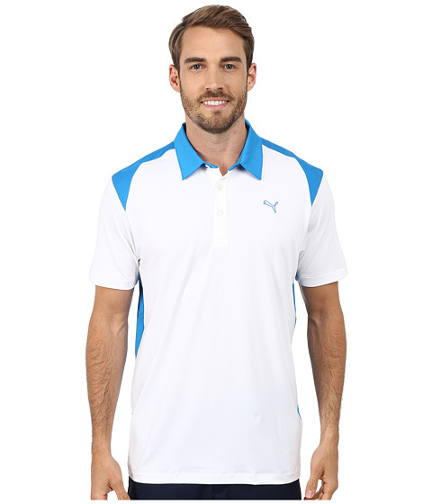 PUMA Golf - Blocked Polo (White) Men