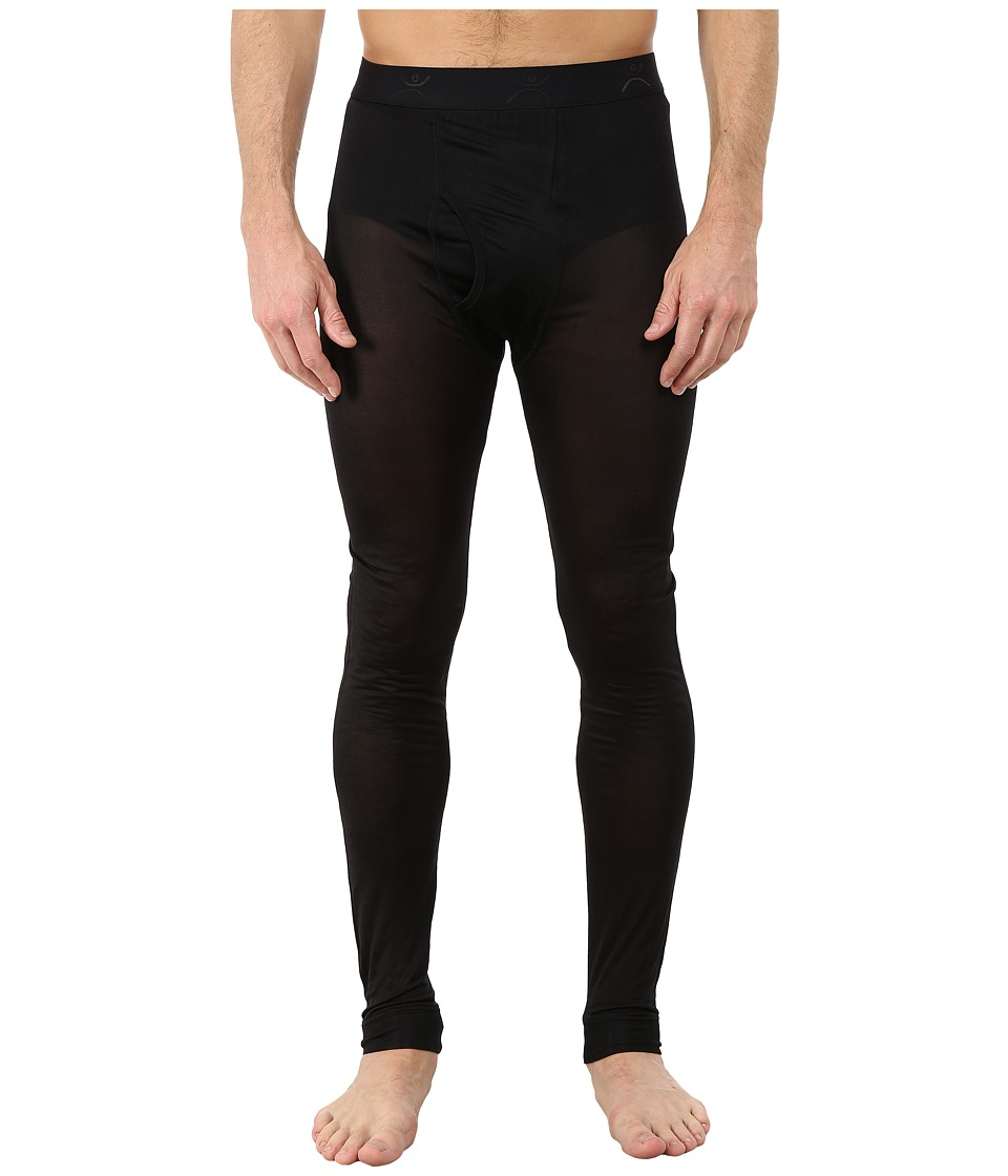 Terramar - Thermasilk Jersey Pants (Black) Men's Clothing